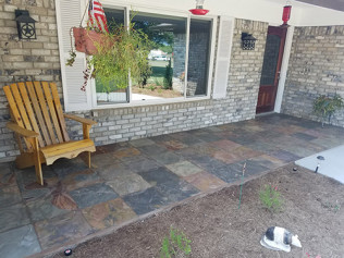 Slate Porch Installation